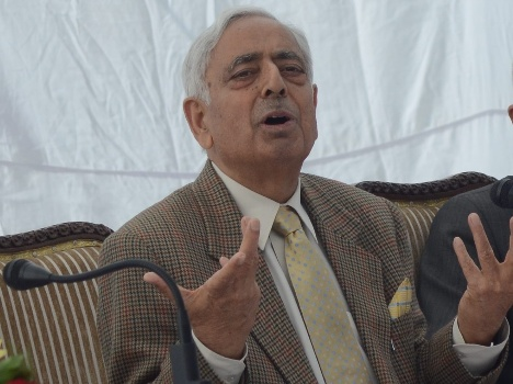 The country's first Muslim chief minister Mufti traveled to