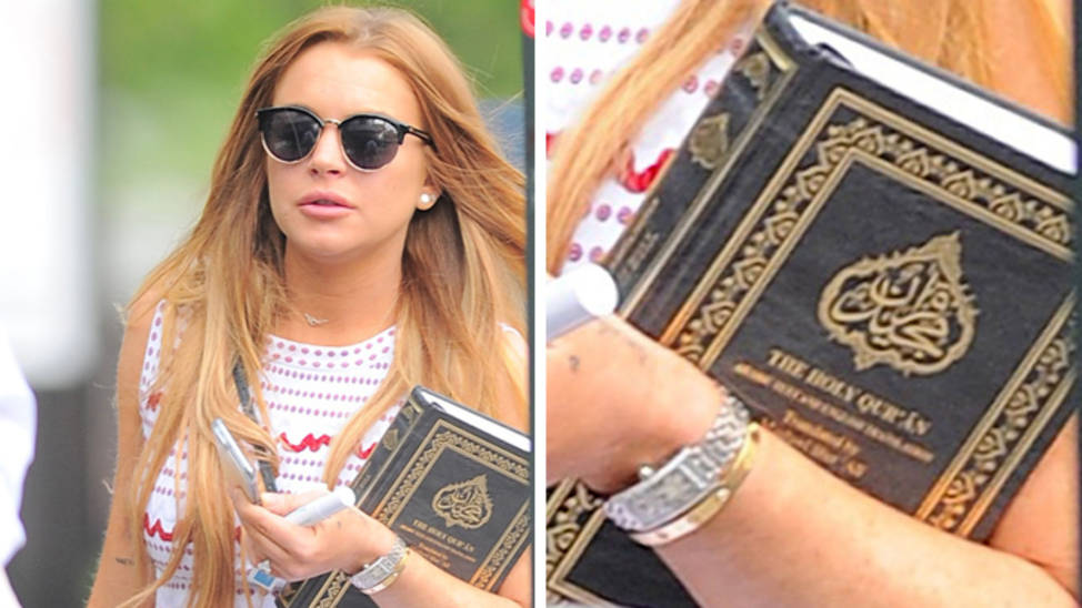 linday lohan accepted islam